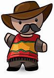 Spanish Cowboy Waving