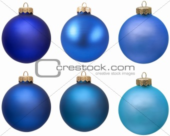 blue christmas ornament collection.