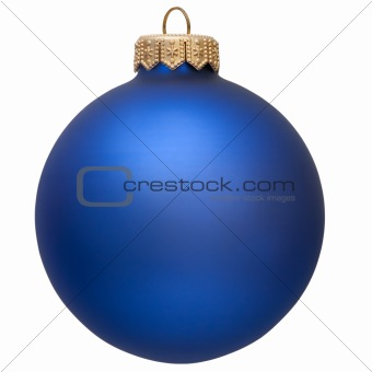 blue christmas ornament .