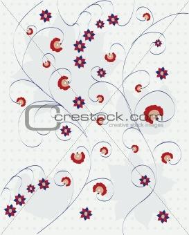 Grunge floral background illustration
