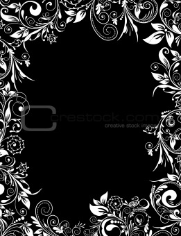 Frame floral for design, vector