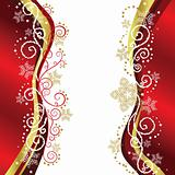 Red &amp; Gold Christmas border designs