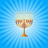 Hanukkah background with Menorah