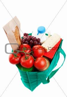 Groceries in Reuseable Bag