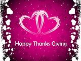 pink hearts background with thanksgiving text