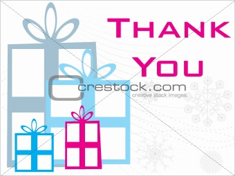 abstract gift background with thankyou text