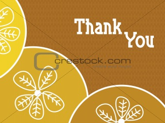 abstract background with thankyou text