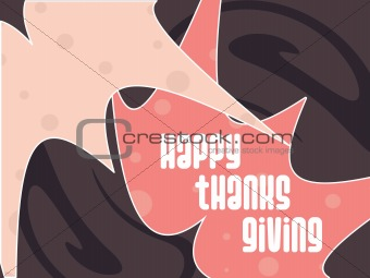 abstract background with happy thanksgiving text