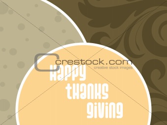 abstract floral background with thanksgiving tex