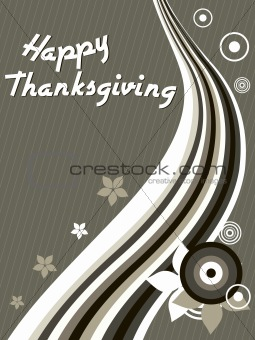 abstract backgound with waves and thanksgiving text