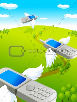 cell phones with wings