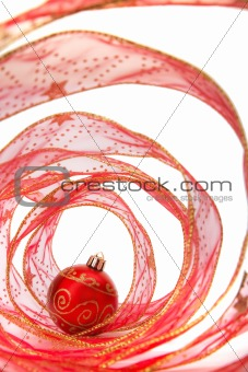 Bauble and Christmas Ribbon