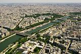 Paris and Seine river