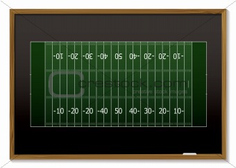 american football blackboard
