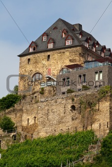Old castle on  hill