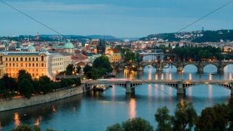 Prague and the Vltava River