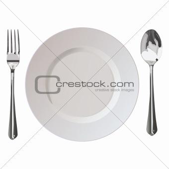 Flatwares fork plate spoon