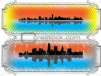 City Skyline and Silhouettes