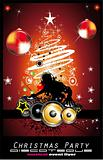Abstract Christmas Party Disco Background
