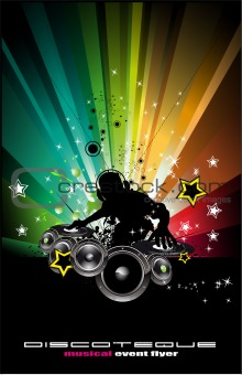 Abstract DJ Disco Background