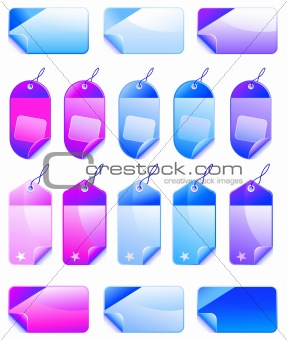 Christmas Colorful Promotional sales price labels