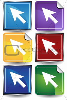 3D Sticker Set - Arrows
