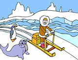 Eskimo Sled Ride