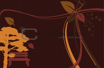 abstract brown background with tree