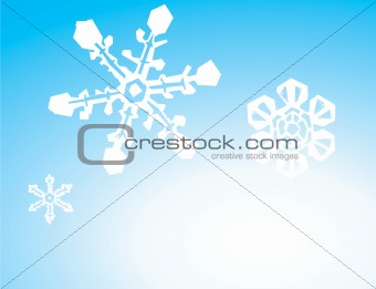 Three Snowflake Background