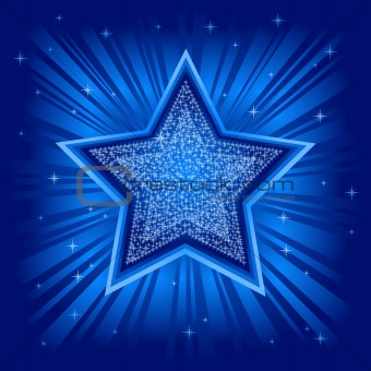 Abstract vector background with star