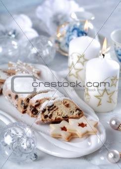 Christmas cake and cookies