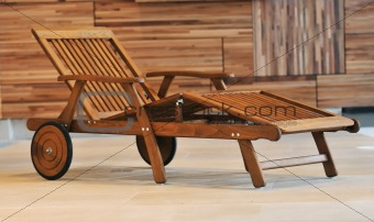 wooden pool furniture