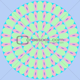 ornamental flower mandala