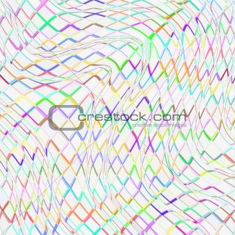 colorful draped net