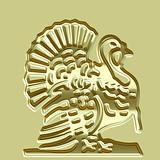Golden turkey plate