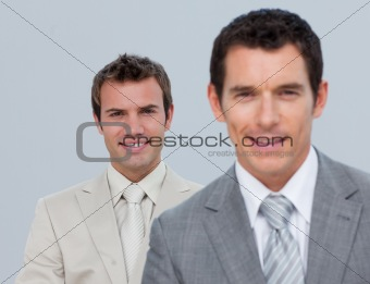Portrait of two confident businessmen