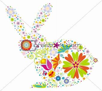 floral rabbit