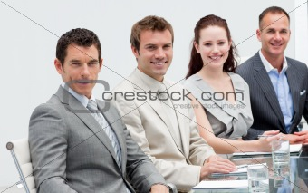 Business team sitting in a meeting