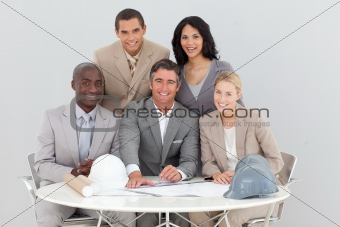 Architectural business team working in the office
