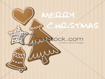 Christmas card - gingerbreads