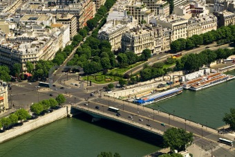 Bridge on the Seine river, Paris