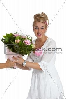 Receiving flowers