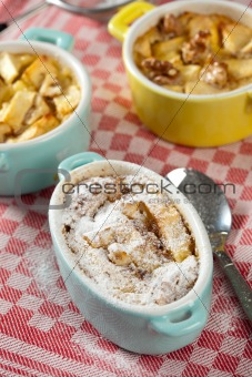 Apple walnut clafoutis