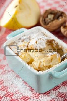 Apple cinnamon clafoutis