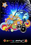 Discotheque Colorful Background for Flyers