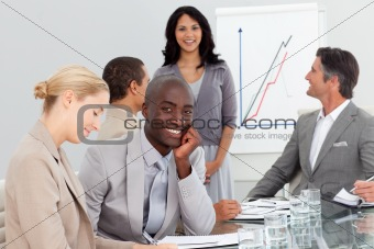 Happy Business people at a presentation