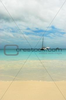 Beach Seychelles. Island Praslin.