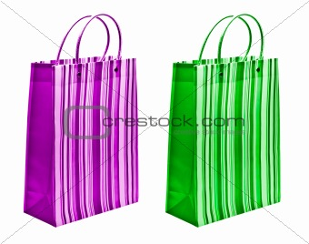 green and magenta packets