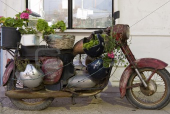 engine, motorcycle, shiny, chrome,