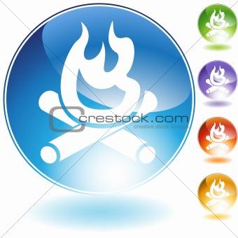 Campfire Crystal Icon